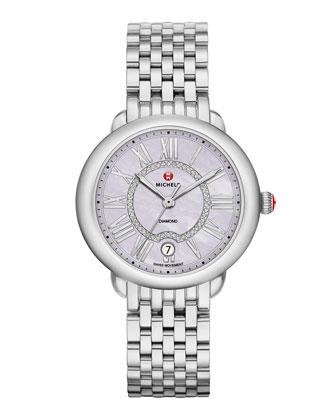 Serein 16 Lavender-Dial Diamond Watch Head & 16mm Purple Saffiano Strap