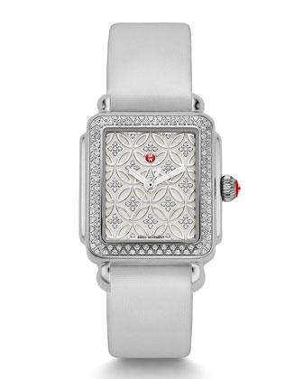 Deco 16 Fleur Diamond Watch Head & 16mm Tech Satin Watch Strap ...