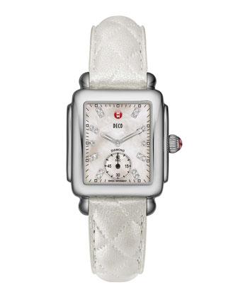 Serein Stainless Diamond Watch Head & 16mm Quilted Strap