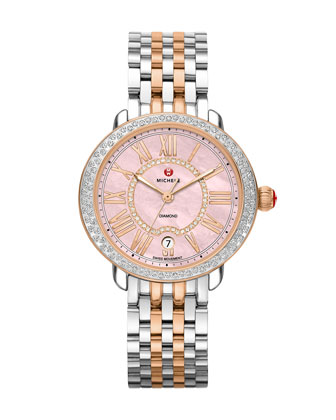 Serein 16 Two-Tone Diamond Watch Head and Bracelet Strap