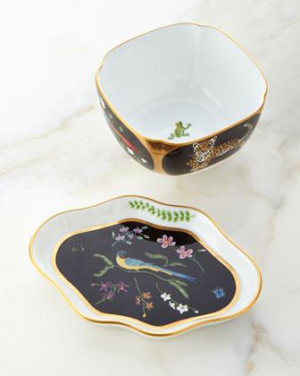 Jaguar Jungle Sauce Bowl & Leaf Tray
