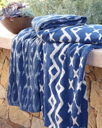 Tudela Indigo & Sloop Indigo Beach Towels