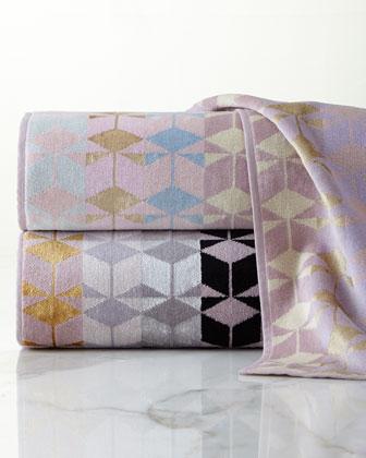 Geometric Jacquard Towels