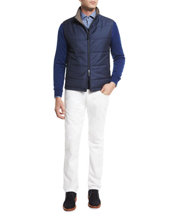 High-Performance Wool Sweater, Bright Blue