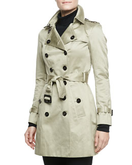 Burberry Prorsum Sateen Trench Coat, Trench