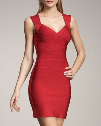 Cross-Bust Bandage Dress