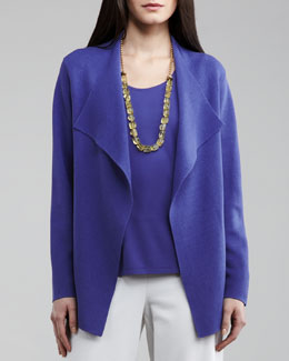 Eileen Fisher Open Interlock Cardigan