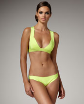 Herve Leger Wide-Strap Bikini