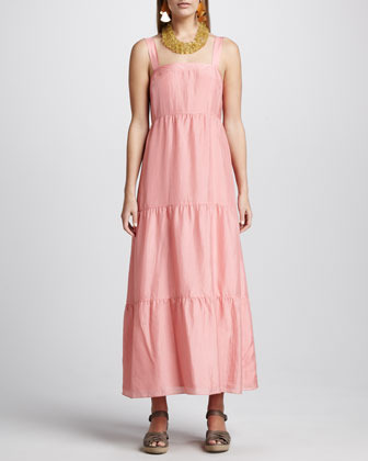Silk Tiered Maxi Sundress