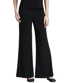 Caroline Rose Straight-Leg Crepe Pants