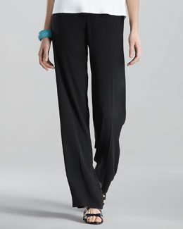 Eileen Fisher Silk-Georgette Pants