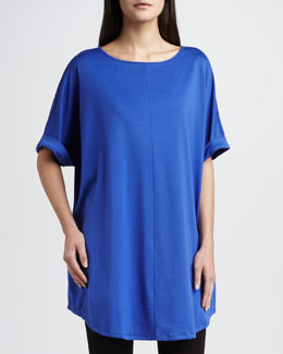 Joan Vass Rolled-Sleeve Tunic