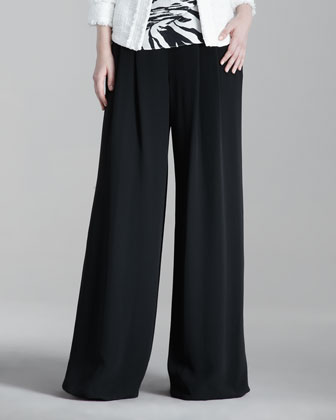 Ludlow Wide-Leg Pants, Black