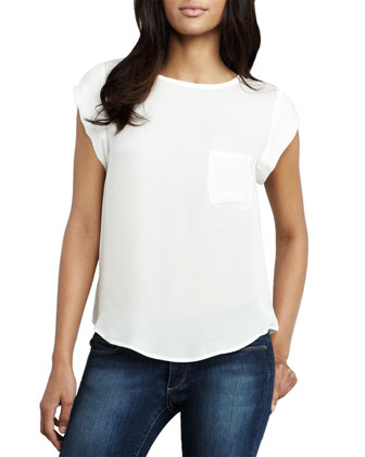 Rancher Short-Sleeve Pocket Blouse (CUSP Top Seller!)