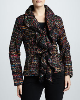 Berek Ruffled Tweed Jacket