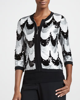 Michael Simon Sequined Scallop Jacket