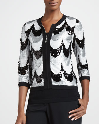 Sequined Scallop Jacket