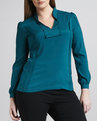 Reema Stretch-Silk Blouse, Women's