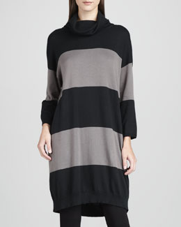 Joan Vass Long Bold-Striped Tunic