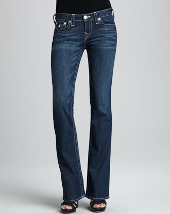 Becky Houston Boot-Cut Flat-Pocket Jeans