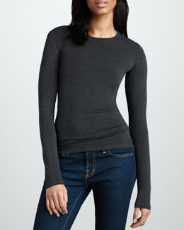 NM Luxury Essentials Crewneck Slub Top