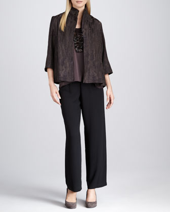 Reflection Jacquard Jacket, Silk Sleeveless Tank & Silk Georgette Pants, ...