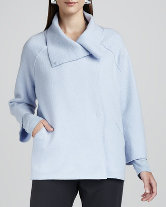 Boiled-Wool Coat, Petite