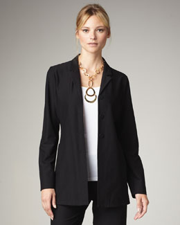 Eileen Fisher Washable-Crepe Jacket, Petite