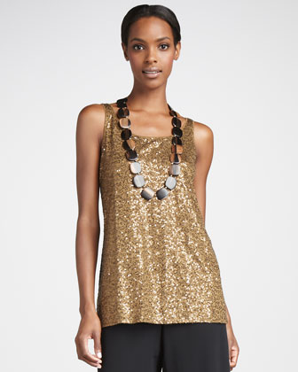 Sleeveless Sequin Tunic, Women's