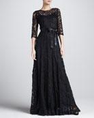 Floral-Lace Gown
