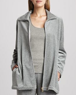 Joan Vass Long Velour Jacket