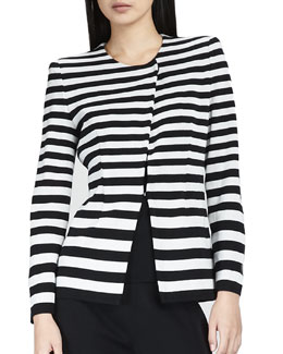 Misook Collection Lorena Stripe Jacket