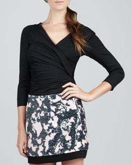Diane von Furstenberg Bentley Faux-Wrap Top