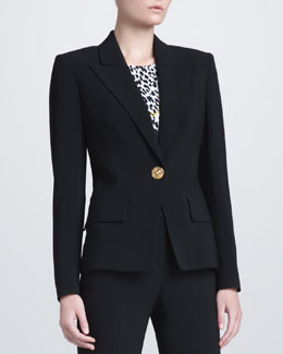 Versace Peak-Lapel Suit Jacket