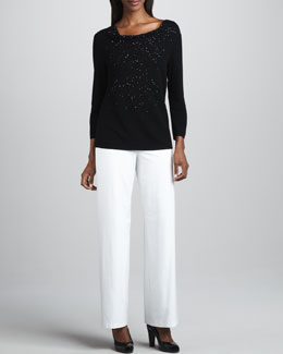 Eileen Fisher Beaded Wool Top, Women's