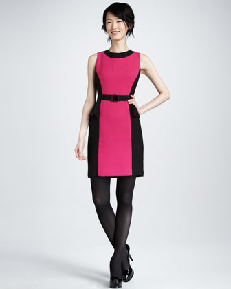 Olivia Belted Dress, Fuchsia