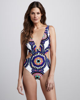 Mara Hoffman Pow Cutout One-Piece Swimsuit