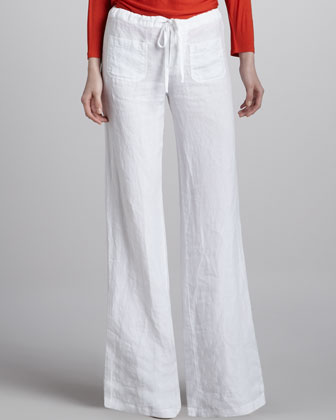 Linen Drawstring Beach Pants