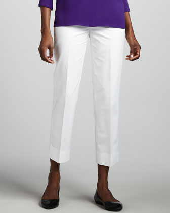 Bleecker Cropped Pants, White