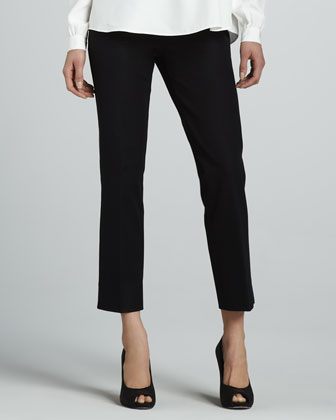 Jodhpur Cropped Pants, Black