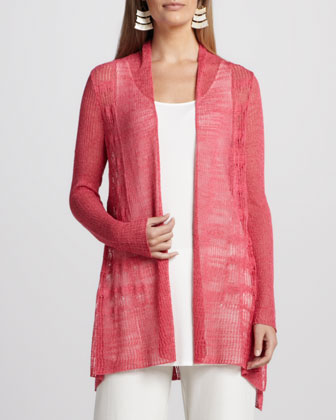 Wave Pointelle Cardigan