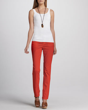 Straight-Leg Jeans, Petite