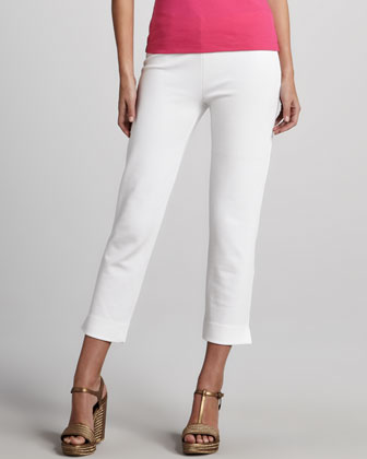 Slim Ponte Ankle Pants