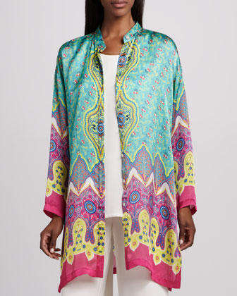 Allover Print Silk Jacket