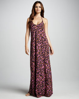 Camilla & Marc Pablo Animal-Print Cover-Up Maxi Dress