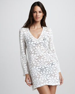 Milly Chrysanthemum Crochet Tunic Coverup