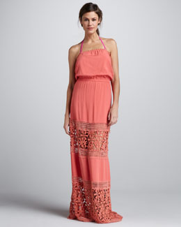 6 Shoreroad Charlotte Crochet-Panel Maxi Dress
