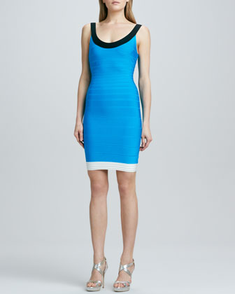 Basic Colorblock Bandage Dress