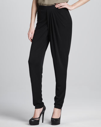 Asymmetric Pleated Pants