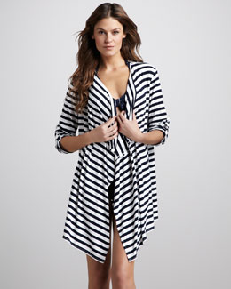 Seafolly Summer House Striped Cardigan